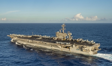 WORLD OF WARSHIPS CVN 70 USS CARL VINSON - Length 1092 ft, A4W, two Westinghouse nuclear reactors, 101300 TONS