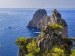 Rocks in Capri, Italy