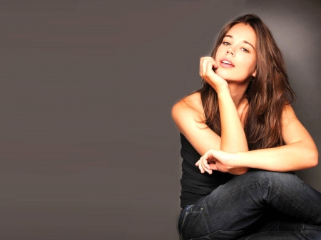 Laia Costa - shirt, model, black, Costa, beautiful, Laia Costa, jeans, actress, wallpaper, 2020, hot, Spanish, face, Laia