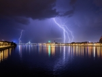 Lightning in Riga, Latvia