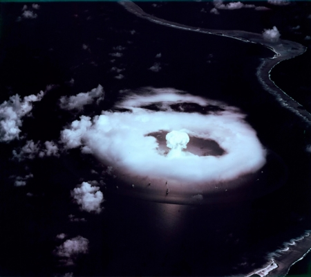 Nuclear Blast - Mushroom Cloud, Clouds, Nuclear Blast, South Pacific, Bikini Atoll