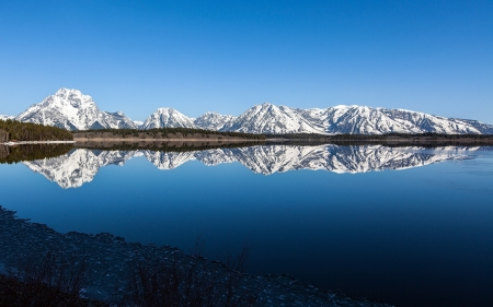 Grand Teton National Park, Wyoming,USA - lake, mountains, parks, wyoming, nature, reflection