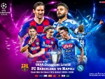 FC BARCELONA - NAPOLI CHAMPIONS LEAGUE WALLPAPER