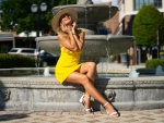 Olga Clevenger in her Yellow Summer Dress