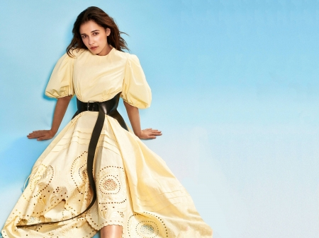 Naomi Scott - beautiful, Scott, singer, English, dress, model, Naomi Scott, yellow, Naomi, actress, wallpaper, 2020, hot