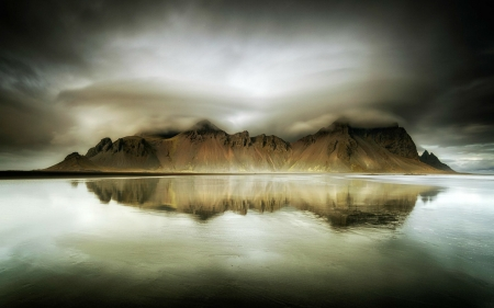 Vestrahorn Mountain, Iceland - mountain, water, nature, reflection, iceland