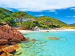 Palombaggia Beach In Corsica Island, France