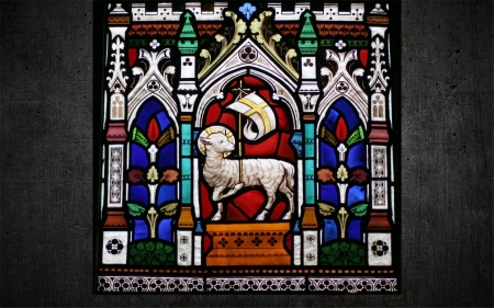 Lamb of God - inside, Lamb of God, church, stained glass