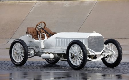 1906 White Beauty  - Vintage, White Wheels, Wood Grain Steering Wheel, Interior, Elegant, Gears, Classy, Reflection, Classic, Tan, Car, Chain