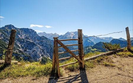 Gate in Mountains