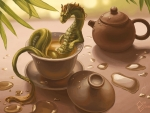 Green tea dragon