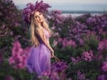 Girl in lilacs