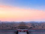 The Forbidden City in China during sunrise