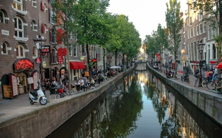 Amsterdam, Netherlands - Amsterdam, canal, Netherlands, houses, street