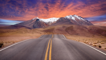 Road To Nowhere - roads, nature, landscape, mountains
