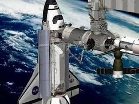 International Space Station..VIDEO..Shuttle docking and Song - station, solar system, singer, earth, shuttle, space, music, sky, video, song, planet, blue