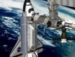 International Space Station..VIDEO..Shuttle docking and Song