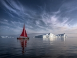 Sailboat and Ice