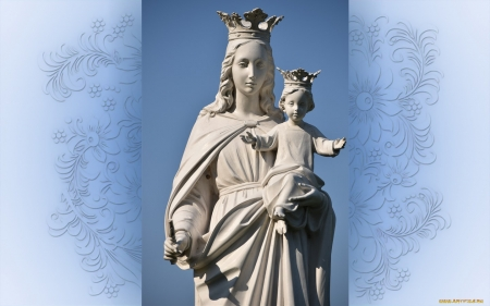 Mary with Jesus - Baby, Queen, Jesus, Mary, sculpture
