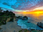 Sunset Over McWay Falls in California
