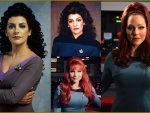 Marina Sirtis and Michele Specht