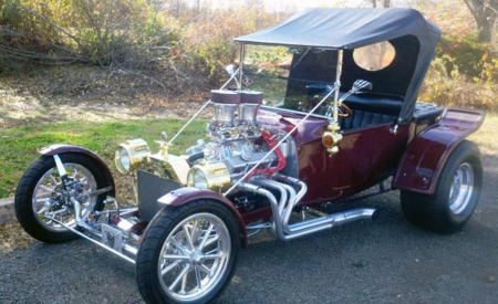 1923 Ford Model 'T'...Custom Hot Rod - Beautiful, Hot Rod, Car, Vintage, Red