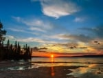 Sunset on the Waskesiu Lake