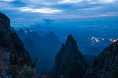 Amanhecer nos Portais - mountains, beauty, nature, evening, top, natural, blue, range, photography, brazil