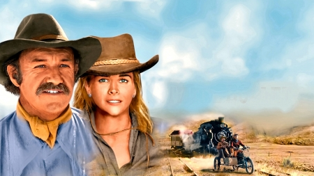 Taming The West - trains, blondes, cowboys, cowgirls, movies