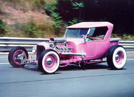 1923 Ford Model 'T' Roadster Hot Rod - Model T, Ford, Hotrod, Pink