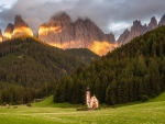 Chapel in Dolomites, Italy