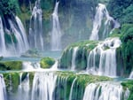 Amazing Lush Green Waterfall