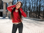 Model in a Red Sweater