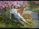 Girl with deers