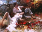 The Picnic...Art Painting
