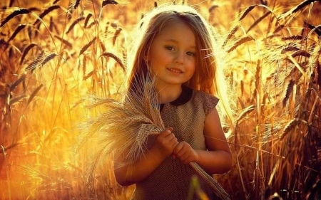 Little Girl with Grain