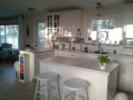 Kitchen - home, white, kitchen, counters
