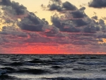 Red Clouds over Sea