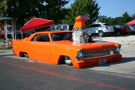 Big Motor & Slammed Nova - GM, Custom, Orange, Nova