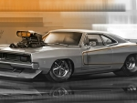 Art Work of a '69 Dodge Charger R/T