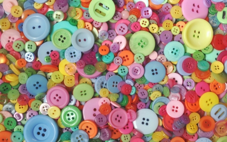 Colorful Buttons - photo, colorful, colors, buttons