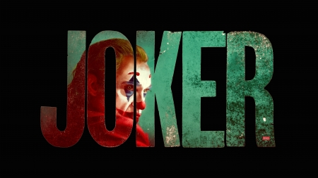 Joker - Joker, typography, black background, dc comics, villains