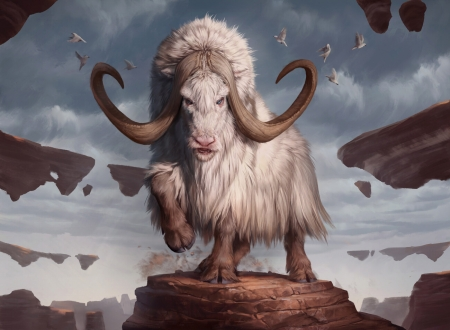 Makindi Ox - ox, art, ilse gort, fantasy, gathering, animal, horns