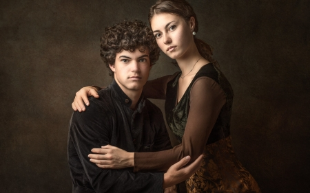 Brother and Sister - youth, sister, brodher, people, portrait