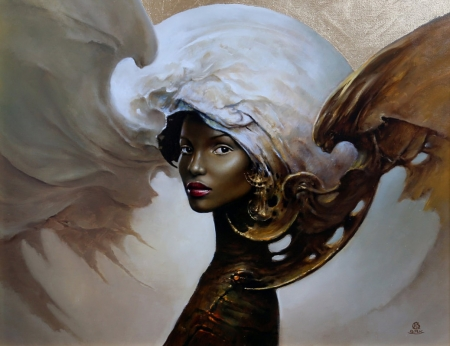 Fantasy girl by Karol Bak - girl, art, karol bak, fantasy, painting, face, pictura