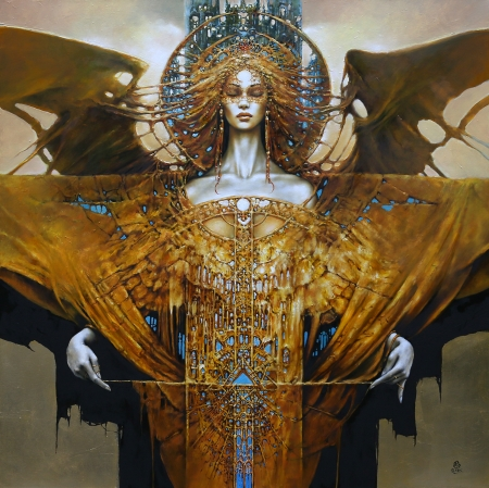 Fantasy girl by Karol Bak - fantasy, girl, karol bak, art, painting, pictura
