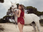 Sweet with white horse