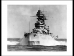 USS Arizona In Heavy Seas