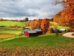 Farm In Stowe, Vermont, New England