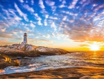 Peggys Cove Lighthouse, New England